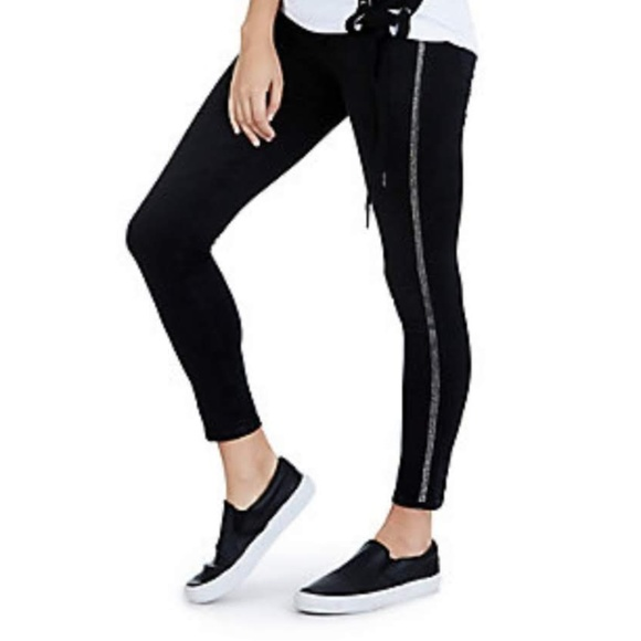 5a0ad0f5aa79b True Religion Pants | Womens Black Glitter Legging | Poshmark